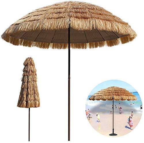 AJH Ombrello Ombrellone da Giardino 250 cm / 8,2 Piedi Ombrellone da Giardino in Paglia Artificiale, Ombrellone Grande Stile Hawaiano per Spiaggia/Piscina/Patio