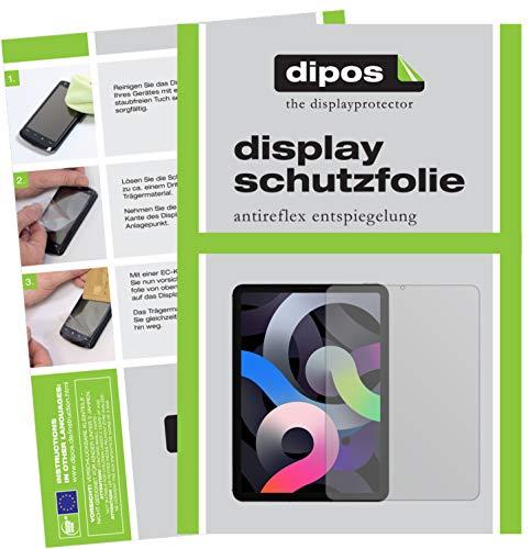 dipos I 2X Schutzfolie matt kompatibel mit Apple iPad Air 10.9 Zoll (2020) Folie Displayschutzfolie