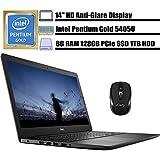 "2020 Newest Dell Inspiron 14 3000 Business Laptop Computer I 14"" HD Anti-Glare I Intel Pentium Gold 5405U 2.3GHz I 8GB DDR4 128GB PCIe SSD 1TB HDD I WiFi HDMI MaxxAudio Win 10 + iCarp Wireless Mouse"