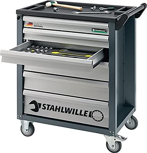 STAHLWILLE Werkzeugwagen B.780xT.499xH.912mm 126-tlg. Werkz. 8 Module m. 3 Schubl. bestückt (98830091)
