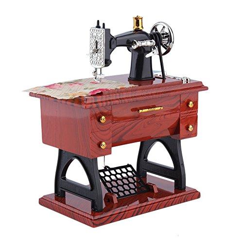 YOSEMITE 1 mini caja de joyería vintage de la máquina de coser caja de música pequeña caja de almacenamiento soporte para cosas pequeñas de niños pedal juguete decoración del hogar regalo 1