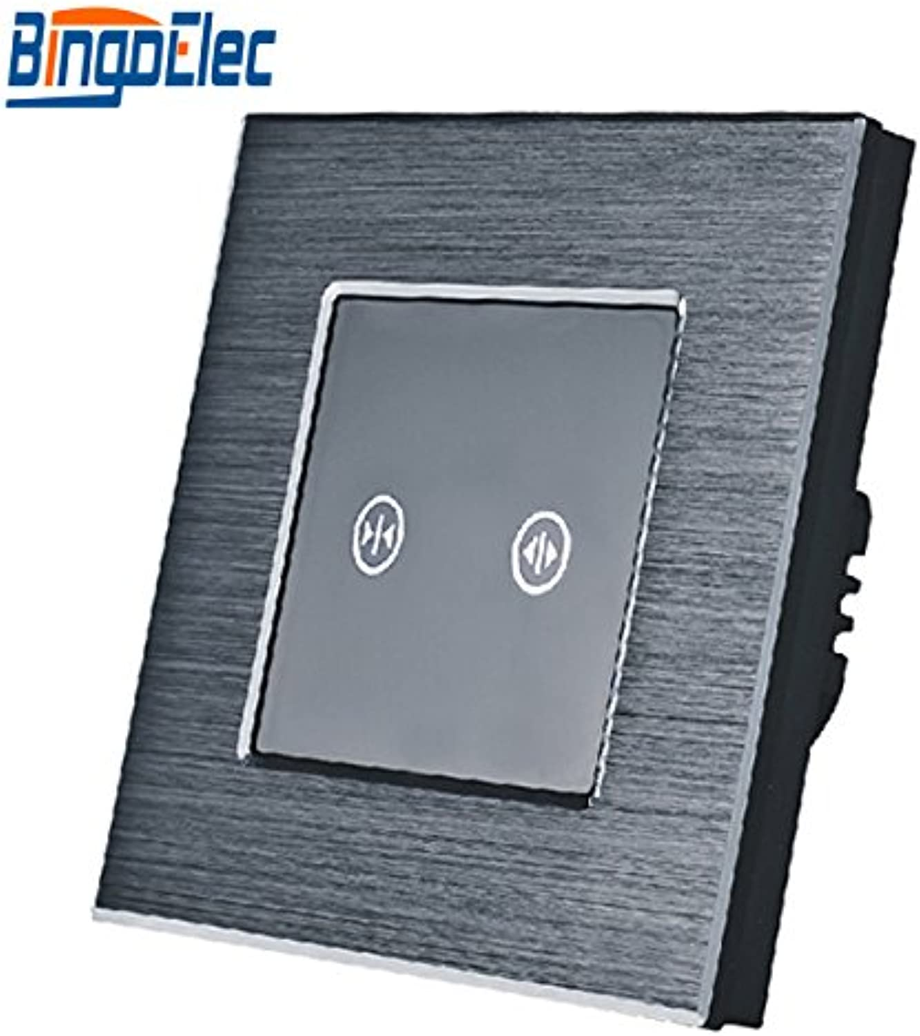 EU UK Three colors Metal Touch Roller Shutter Switch, Wall Window Switch,Curtain Switch  (color  Black Panel)