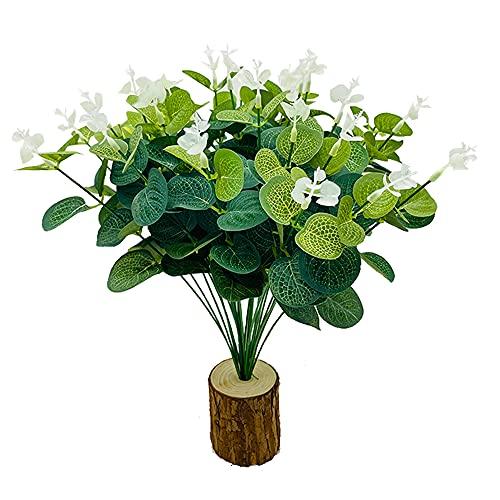 Fycooler 30 Hojas Artificiales de eucalipto, Hojas Artificiales de eucalipto, Hojas de imitación Vegetales, follajes Vegetales, Plantas Artificiales para decoración de Fiestas y Bodas