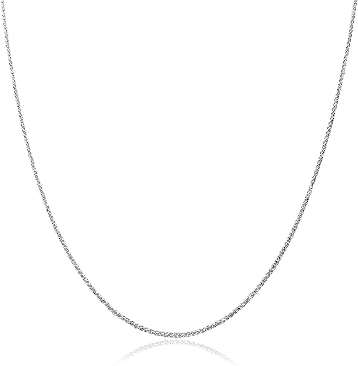 Honolulu Jewelry Company 10K Solid Gold 1.1mm Wheat Chain Necklace, 16