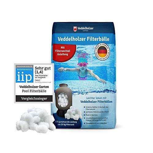 Veddelholzer Pool Filterbälle leichtestes Material für Beste Leistung ersetzt 25kg Filtersand Quarzsand aus Deutschland Poolzubehör Poolreiniger Sandfilteranlage für Salzwasser geeignet