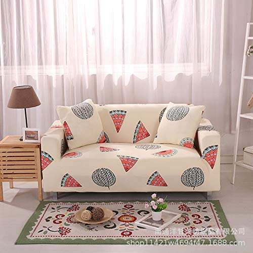 All-inclusive universal stretch full cover double sofa cover [use between 145-185cm] watermelon,Stretch...