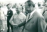 Hans-Günther Sohl, Willy Brandt - Vintage Press Photo