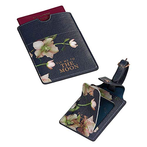Ted Baker and Passport Set Luggage Tag, 18 cm, Arboretum