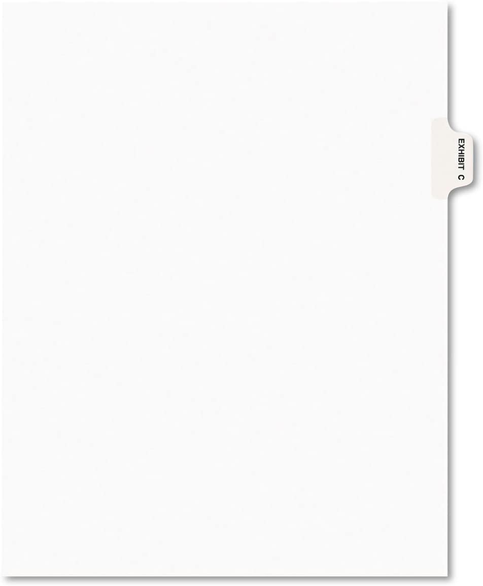 Avery 01373 Avery-Style Preprinted Max 71% OFF Legal Exhib Divider Bargain sale Side Tab