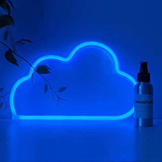 Qunlight Blue Cloud Neon Signs, Battery/USB Operated LED Neon Light for Party Supplies, Girls Room Decoration Accessory, T...