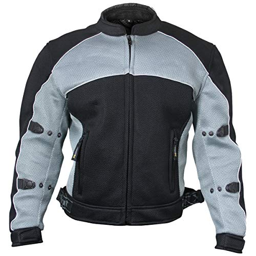 Xelement CF511 Men's Black Mesh Sports Jacket with X-Armor Protection - 2X-Large