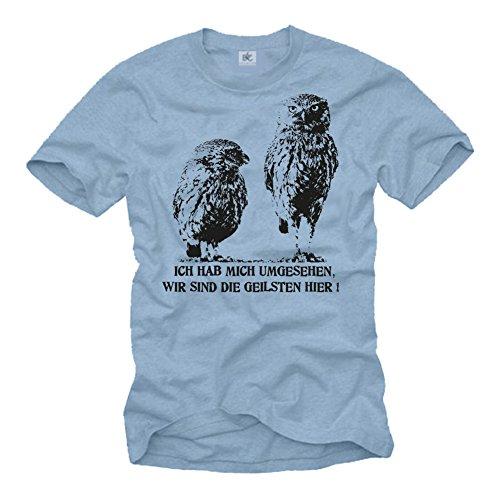 Camiseta Hombre con Frase Aleman - Miré a mi Alrededor, Somos los más cachondos aquí - Blanco M