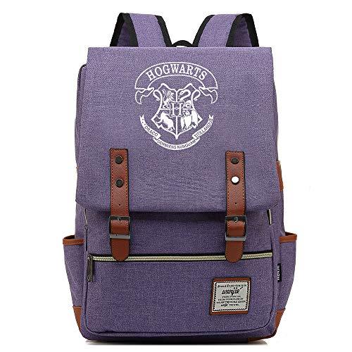 NYLY Hogwarts School Bag Girl Fashion Lunch Bag Mochila Boy Leisure Travel Rucksack Grande Púrpura C