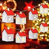Stringa di luce natalizia Decorazione Luci Casa di Alce in Legno 5m 32LED Decorazione Dell...
