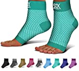 SB SOX Compression Foot Sleeves for Men & Women - Best Plantar Fasciitis Socks for Plantar Fasciitis Pain Relief, Heel Pain, and Treatment for Everyday Use with Arch Support (Green, X-Large)