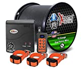 Electric Dog Fence + Remote Trainer - 3 Dog / 1000' of 16 Gauge Underground Dog Fence Wire (Up to 1 Acre) - Dual Solution to Contain and Train Your Dog(s) with a Single Collar