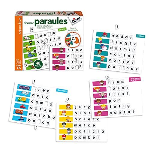 Diset- Formar Paraules Juego Educativo para Niños, Multicolor (63661)