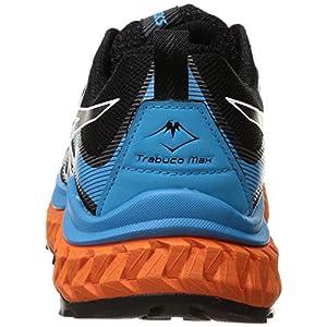 ASICS Men's Trabuco Max Running Shoes, 11.5, Black/Digital Aqua