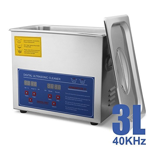HFS (R) Commercial Grade Digital Ultrasonic Cleaner - Stainless Steel (3L-0.8GAL)