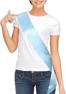 Blank Satin Sash, Plain Sash, Party Decorations, Make Your Own Sash (Light Blue)