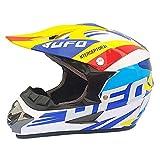 LWAJ Casco de motocross, para adultos, jóvenes, niños, unisex, casco de motocross, accesorios para casco de protección ATV, máscaras, guantes, estándares DOT negro mate (paquete de 4)
