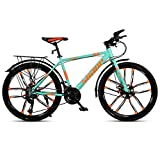 GAOTTINGSD Bicicleta de montaña Camino de la Bicicleta for Adultos Bicicletas Mountain Bike MTB Velocidad Ajustable for Hombres y Mujeres de 26 Pulgadas Ruedas Doble Freno de Disco