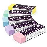 Ashton and Wright - Gomma classica, senza lattice, confezione da 5 pastelli