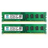 motoeagle PC3 8500 UDIMM 4GB DDR3 1066MHz RAM 8GB Kit (2x4GB) PC3-8500U CL7 1.5V 240-Pin sin búfer 2RX8 módulos de memoria de escritorio de doble rango PC3 8500 UDIMM