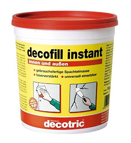 decotric instant Spachtel 1 kg - Kunstharzspachtel für innen und außen