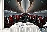 Fotomurales - Murales moderna de Diseno Asiento de avión humano dentro del pasaje - sobre transporte- Decoración de Pared decorativos - 280x200cm