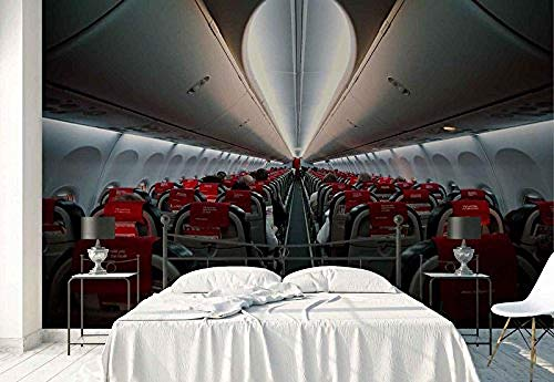 Preisvergleich Produktbild YCRY - Fototapete - Tapete Menschlicher Flugzeugsitz innerhalb des Durchgangs - über Transport - Moderne Wanddeko - Design Tapete - Wandtapete - Wand Dekoration-280x200cm