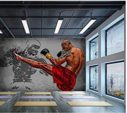 Papel Tapiz Fotográfico 3D Personalizado Taekwondo Gimnasio Boxeo Artes Marciales Gimnasio Herramientas Fondo Decoración De Pared Pintura-400Cmx280Cm