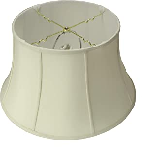 HomeConcept 131911FLES Egg Shell Floor Shantung Lampshade with Brass Spider Fitter by Home Concept, 13