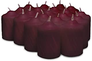 Burgundy Mulberry Scented Votive Candles - 15 Hour Long Burn Time - Textured Finish - Box of 20