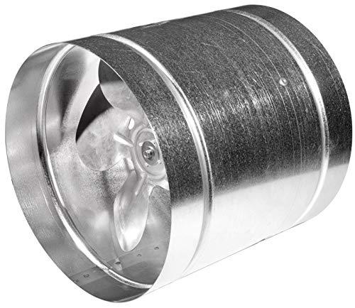 VONLIS Ventilador de tubo axial, de acero galvanizado, 350 mm de diámetro
