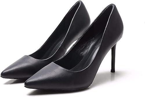 KOKQSX-Chers des Chaussures à Talons Haut Sauvages Frais léger Cuir Chaussure Seule Femme