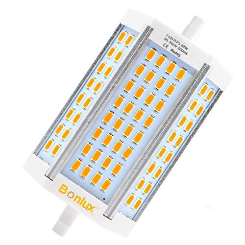 Bonlux 30W R7s LED Lampe Warmweiß 3000K Stablampe J118 T3 118mm (Dimmbar, Ohne Lüfter)