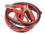 CARALL Kit de cables de batería de coche profesionales, cable de arranque de batería de 35 mm² x 2,5 metros, para emergencias de coche, camión, furgoneta mediana grande hasta 5000 cc