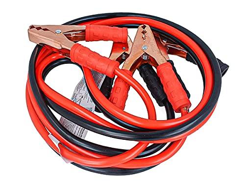 CARALL Kit de câbles de Batterie de Voiture, câble de démarrage de Batterie 10 mm² x 2,5 mètres, pour Motos de Voiture de Secours d'urgence Petit Moyen jusqu'à 2000 CC