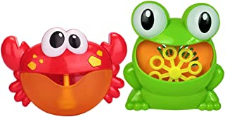 Homyl 2X Crab Automatic Musical Bubble Maker Bath Kids Toy Bath Shower Gift