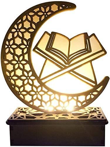 Longrep Ramadan Laterne LED Hängende Laternen Ramadan Dekoration Lichter Urlaub Beleuchtung Schmiedeeisen Nachtlicht, DIY Eid Mubarak LED Nachtlicht Für Partys