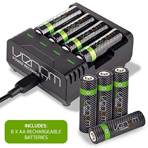 Venom Power Recharge - Charging Station plus 8 x AA 2100mAh Rechargeable Batteries