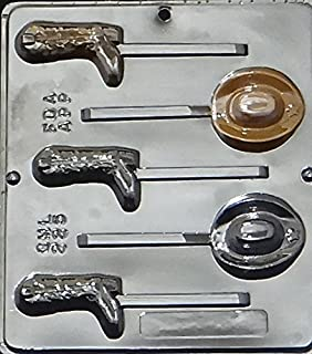 Candy Molds N More Cowboy Hat and Boot Lollipop Chocolate Candy Mold 225