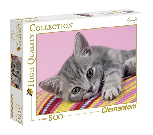 Clementoni- Grey Kitten High Quality Collection Puzzle, 500 pezzi, 30362