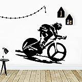 Pegatinas de pared de bicicleta deportiva personalizadas papel...