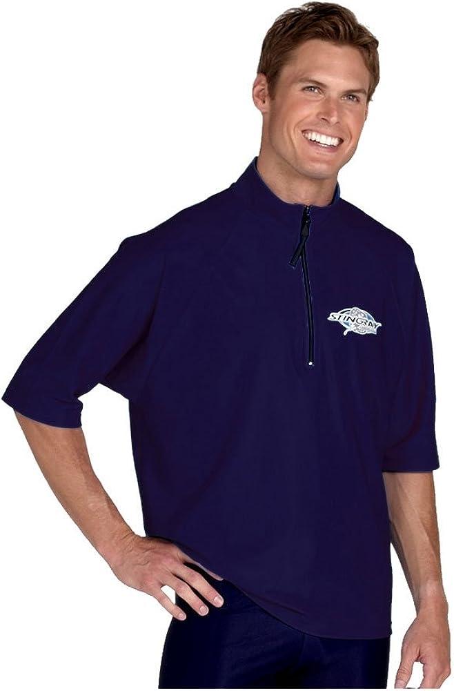 Stingray Australia Plus Size Big Men & Women Rash Guard Zippered Loose Fit Swim Shirt