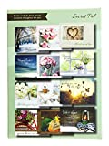 Faith Based Greeting Card Pack with Envelopes, Set of 12 (Secret Pal)