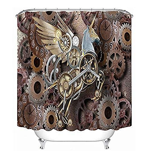 El Engranaje de artesanía de Caballo de Troya mecánico Protege la Cortina de Ducha de privacidad La Cortina deDucha Impresa es fácil de Quitar