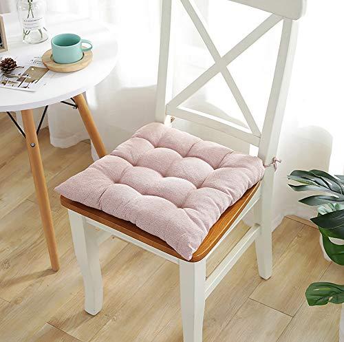 XXYY Polyester Sitzkissen Weich Verdicken Polster Essecke Büro Reise Schulbank Student Sitzkissen 40x40 cm (16 X 16 Zoll),Pink