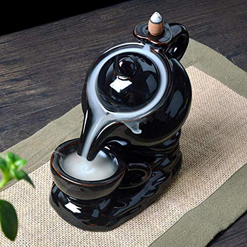 Rise Kettle & Cup Design,Smoke Backflow Cone Burner Holder Decorative Showpiece with 50 Smoke Backflow Scented Incenses